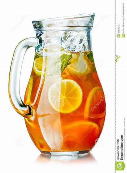 Tea Pitcher Ice Iced Jug Lemon Cold