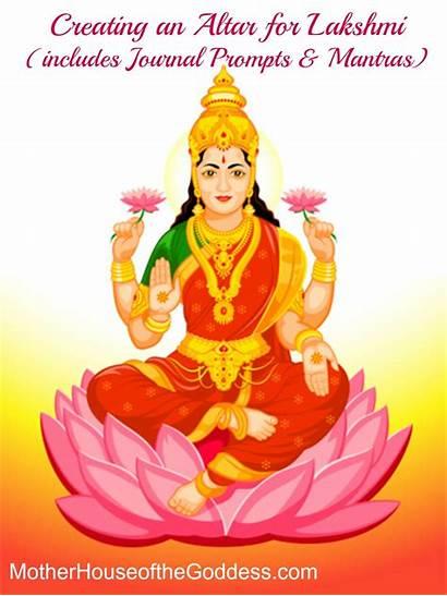 Lakshmi Goddess Hindu Altar Mantras Indian Prompts