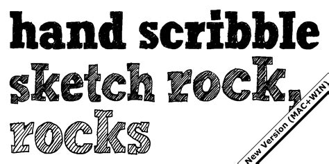 Hand Scribble Sketch Rock Fonts By Typo