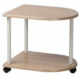 Tavolino Multiuso Con 3 Ruote In Legno Mdf