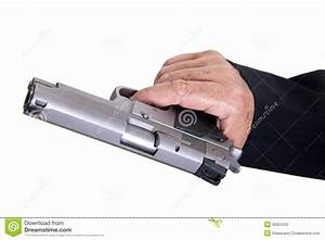 Aiming Loaded Gun - Close Up Stock Photography - Image ...