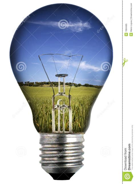 inside of a light bulb light bulb with landscape inside royalty free stock photo