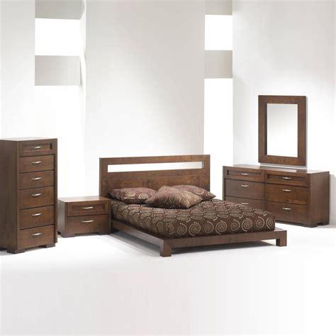 madrid platform bed bedroom set brown queen bedroom sets