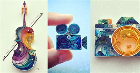 colorful quilled paper designs  sena runa colossal