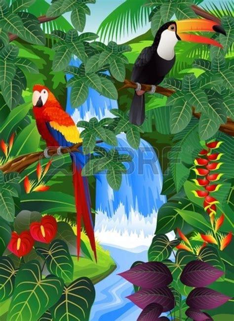 stock photo   tropical art jungle art caribbean art