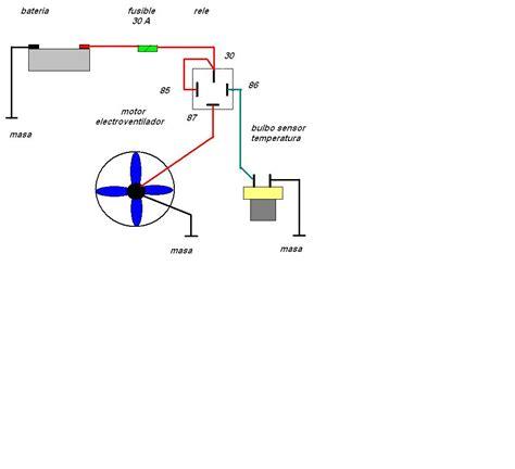 solucionado diagrama y tipo de relee para ventilador y radiador yoreparo
