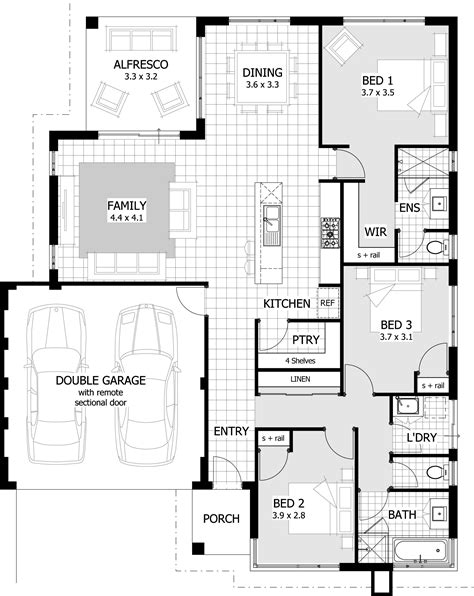 3 bedroom house designs 3 bedroom house plans on 3 bedroom house plans