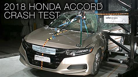 honda accord  pole crash test youtube