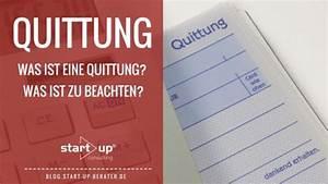 Merkmale Einer Rechnung : quittung was ist bei einer quittung zu beachten ~ Themetempest.com Abrechnung