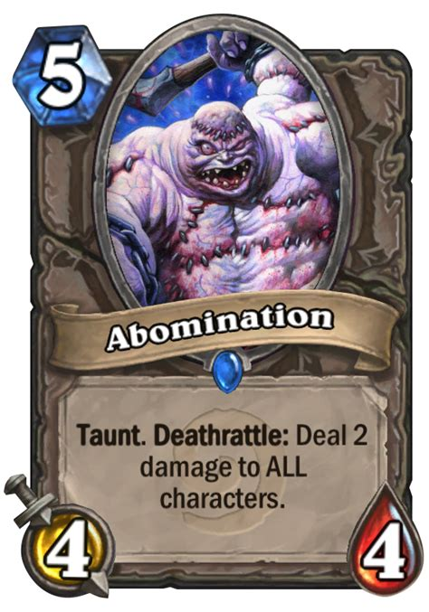 top tier hearthstone decks abomination hearthstone card