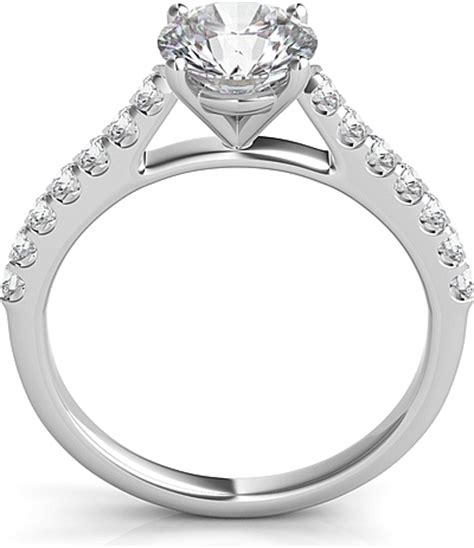 common prong  brilliant cathedral diamond engagement
