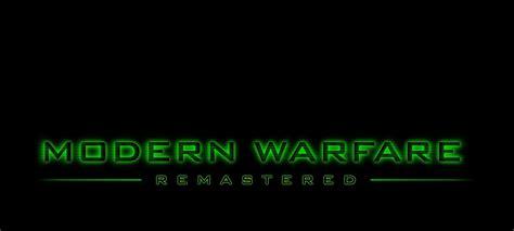 call  duty infinite warfare modern warfare remastered
