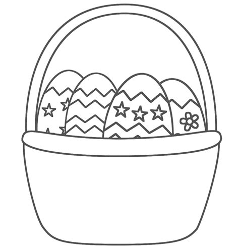 easter basket coloring pages 7 easter basket with eggs coloring pages