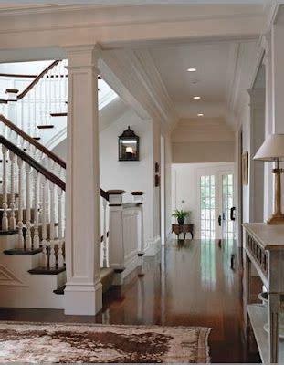 trim lighting floors love  stain  white combinationlike  column   staircase