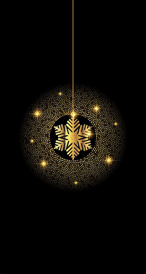 Gold Winter Wallpaper Iphone by Black And Gold Snowflake