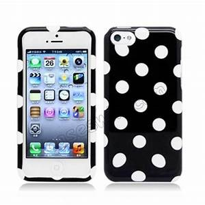Polka Dots Pattern Front and Back Plastic Hard Case For ...