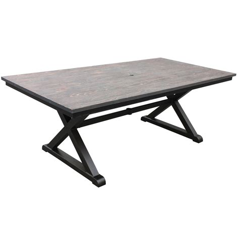 best rectangular metal patio table patio design 381