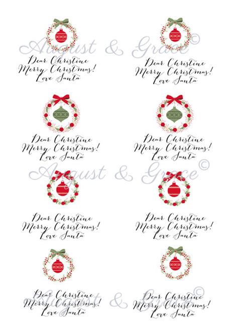 christmas gift tag stickers merry christmas and happy
