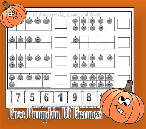 preschool ten frame printables free pumpkin ten frames 759 | f475052fa8838fa0b483fe037b3228f7