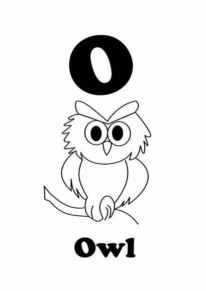 Owl Letter Coloring Writing Pages