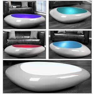 couchtisch designer design couchtisch delta grau led farbwechsel beleuchtung 118cm neu ebay