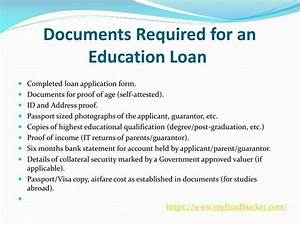 ppt apply education loan online powerpoint presentation With documents needed for new mortgage