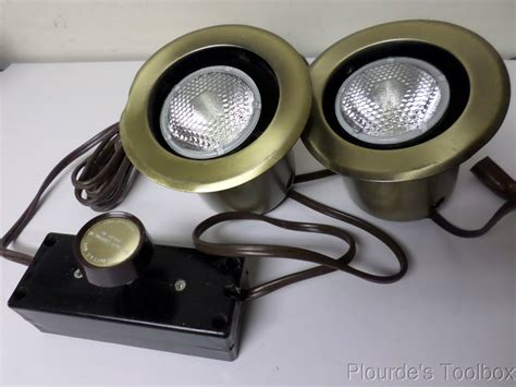 2 new specialty lighting flanged cabinet light 4 5 8 quot od