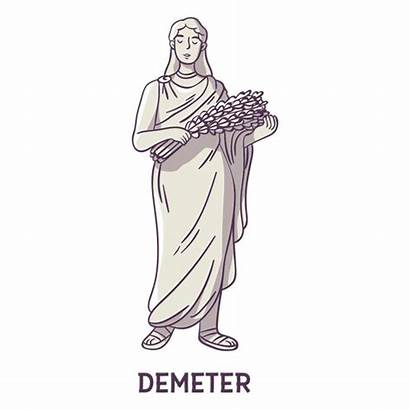 Gray Demeter Hand Drawn Svg Transparent Cartoon