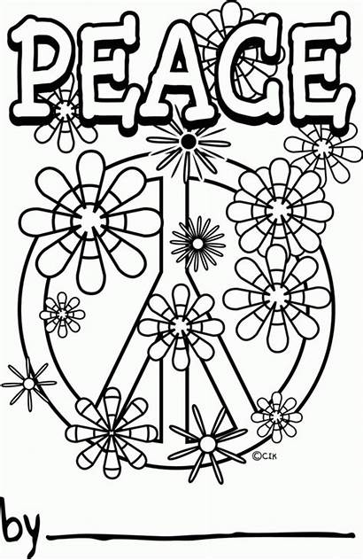 Coloring Peace Pages Printable Happiness Popular