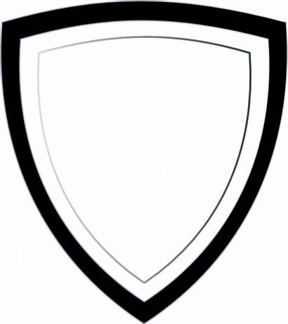 Badge Template Clip Blank Clipart Police Printable