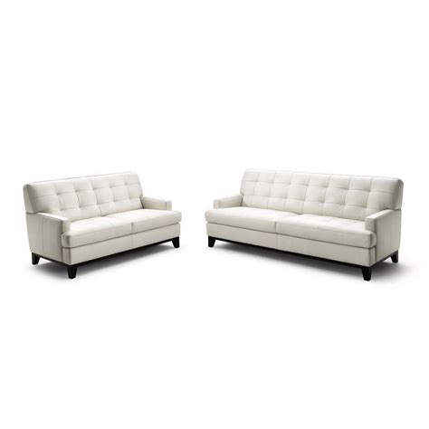 white leather sofa set wholesale interiors adair leather loveseat and sofa set