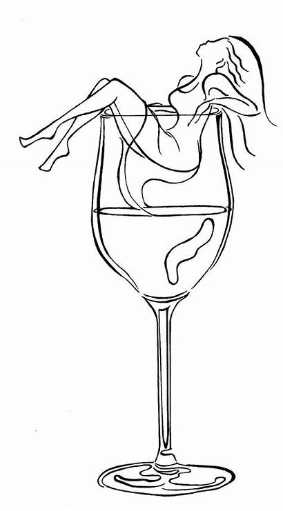 Wine Drawing Painting Glass Drawings Patterns Tattoo