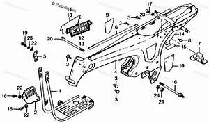 Honda Motorcycle 1979 Oem Parts Diagram For Frame