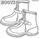 Boots Coloring Pages Colorings sketch template