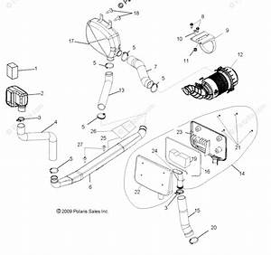 Polaris Side By Side 2010 Oem Parts Diagram For Engine Air