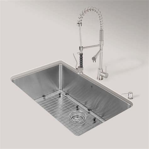 All In One Kitchen Sink by Vigo Stainless Steel All In One Undermount Kitchen Sink