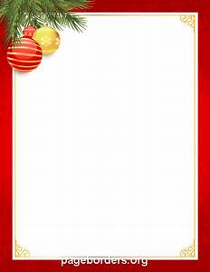 Free Microsoft Word Holiday Borders Red And Gold Christmas Border Clip Art Page Border And