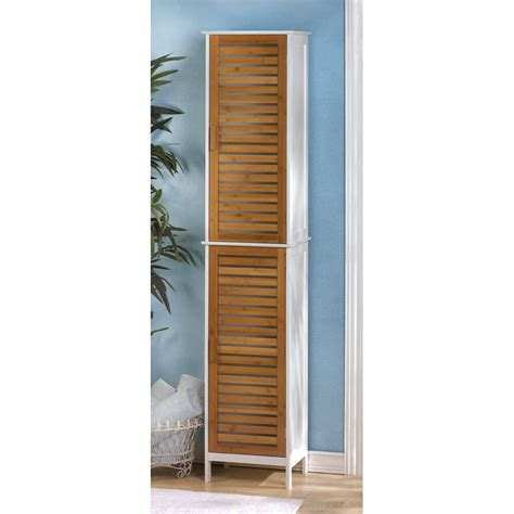 Handtuch Schrank Bad by Modern 75 White Bamboo Slats Bathroom Linen Towel