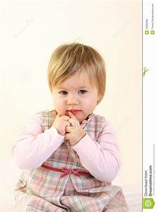 Cute Baby Girl Wearing Pink Dress Stock Photo - Image of ...
