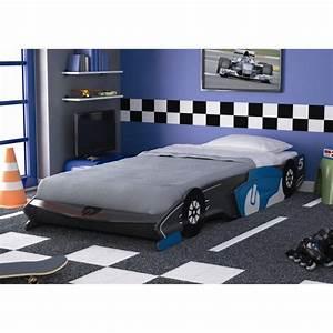 Lit Garçon Pas Cher : fast lit enfant voiture gris et bleu 90x190 200cm achat ~ Teatrodelosmanantiales.com Idées de Décoration