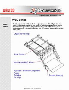Waltco Wsl Series Liftgate By The Liftgate Parts Co