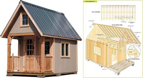 wood cabin plans  step  step shed plans