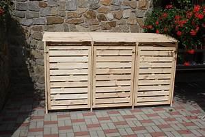 Mülltonnenbox Holz Anthrazit : holz sichtschutz promadino vario iii m lltonnenverkleidung f r 3 tonnen kinderspielger te ~ Whattoseeinmadrid.com Haus und Dekorationen