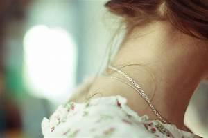 bokeh, girl, neck, necklace, romantic - image #46694 on ...