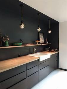 Resultat de recherche d39images pour quotcuisine kungsbacka for Idee deco cuisine avec meuble cuisine noir et bois
