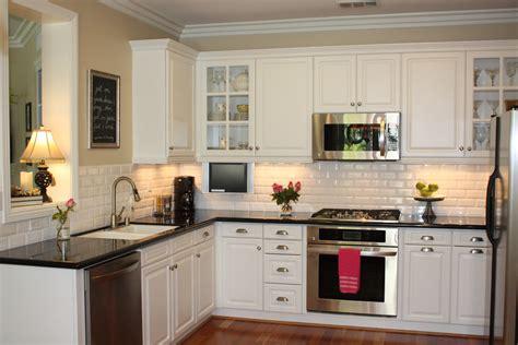 white kitchen subway tile backsplash dress your kitchen in style with some white subway tiles