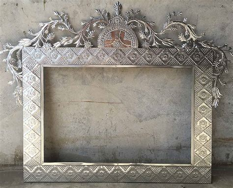 large mexican tin mirrors rustica house