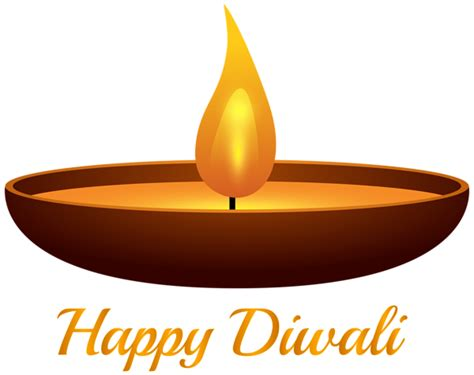Happy Diwali Candle Png Clip Art Image