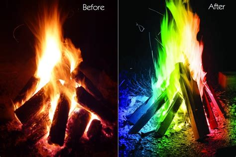 Lagerfeuer Temperatur by Color Your Magical Flames Adds Colorful Flames To A