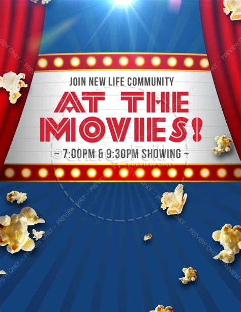 movies church night ministry flyer